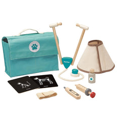 Toy . Wooden Vet Set