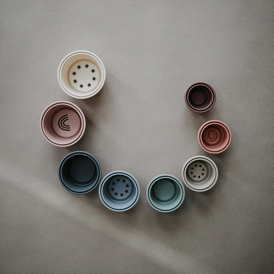 Toy . Stacking Cups - Muted
