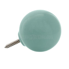 Wall Hook . Ceramic Sphere - Green