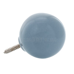 Wall Hook . Ceramic Sphere - Medium Blue