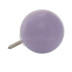 Wall Hook . Ceramic Sphere - Purple
