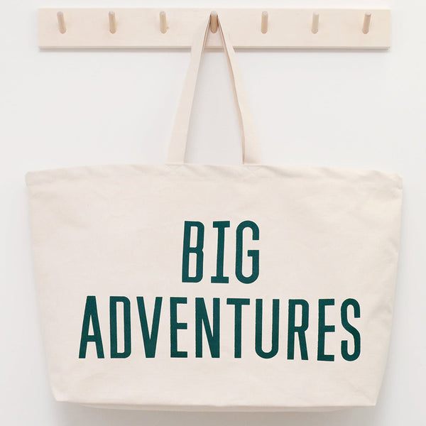 Canvas Tote . REALLY Big Bag - Big Adventures