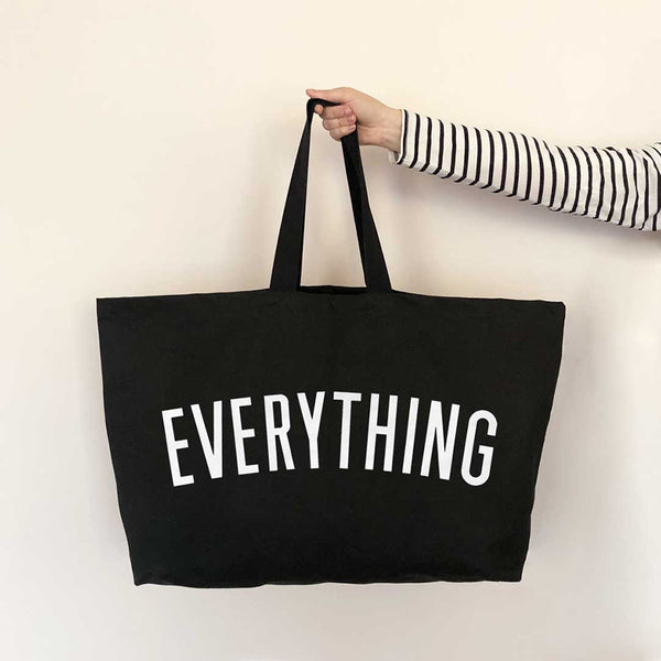 Canvas Tote . REALLY Big Bag - Everything / Black