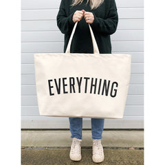 Canvas Tote . REALLY Big Bag - Everything / Natural