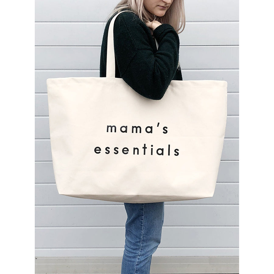 Canvas Tote . REALLY Big Bag - Mama's Essentials