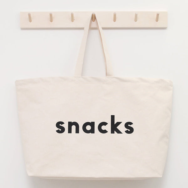 Canvas Tote . REALLY Big Bag - Snacks