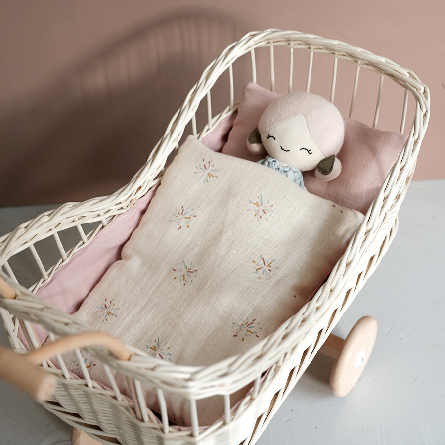 Soft Toy . Organic Cotton Big Doll -  Apple