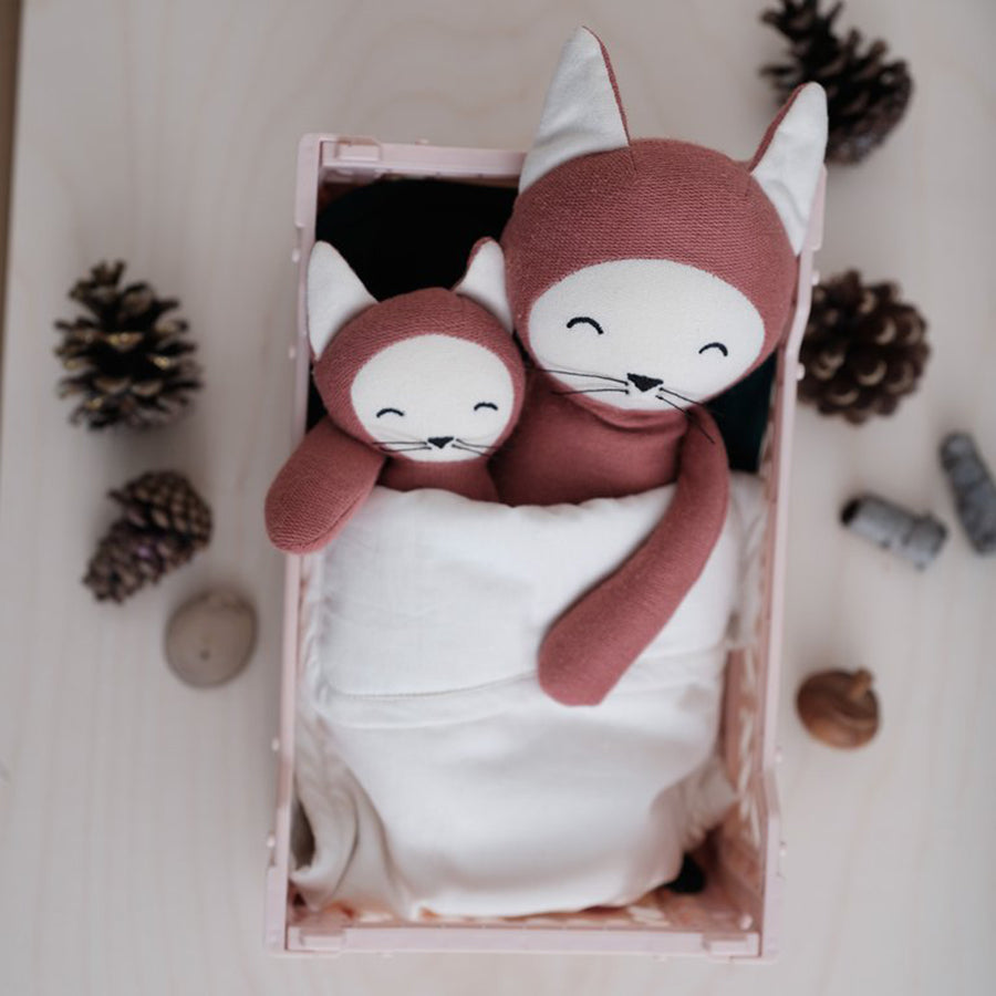 Soft Toy . Organic Cotton Buddy -  Fox / Clay