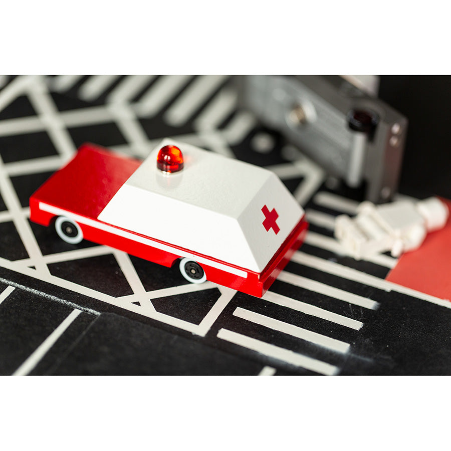 Toy . Wooden Candy Car - Ambulance