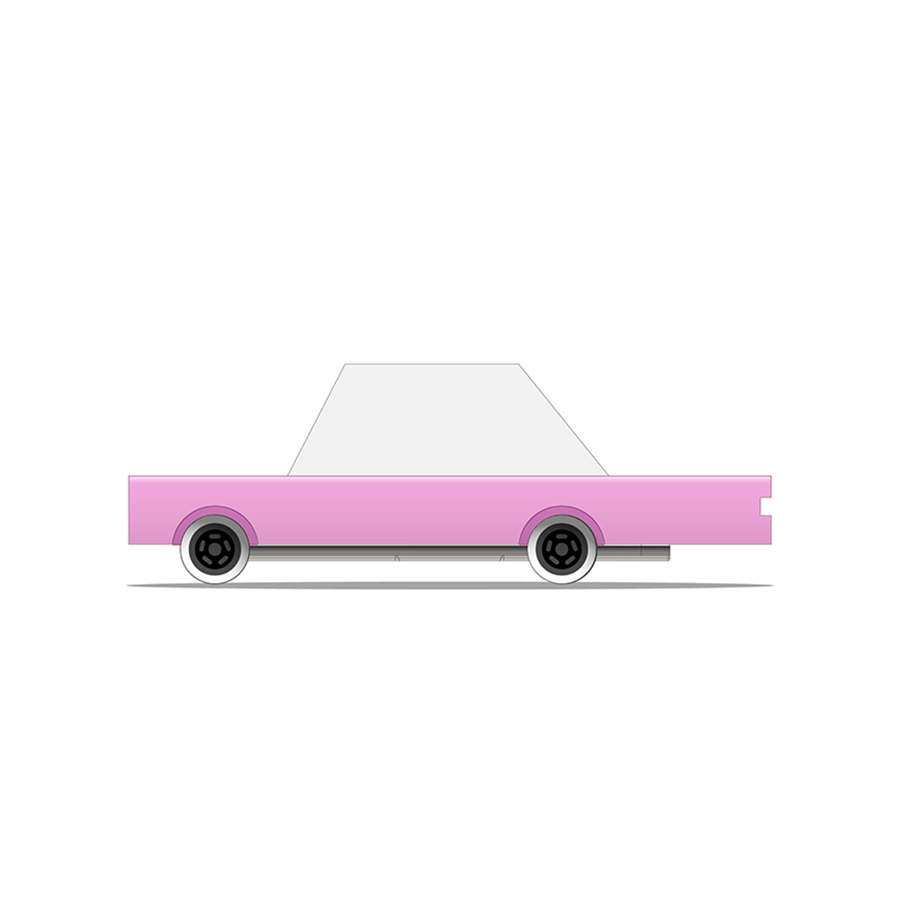 Toy . Wooden Candy Car - Pink Sedan