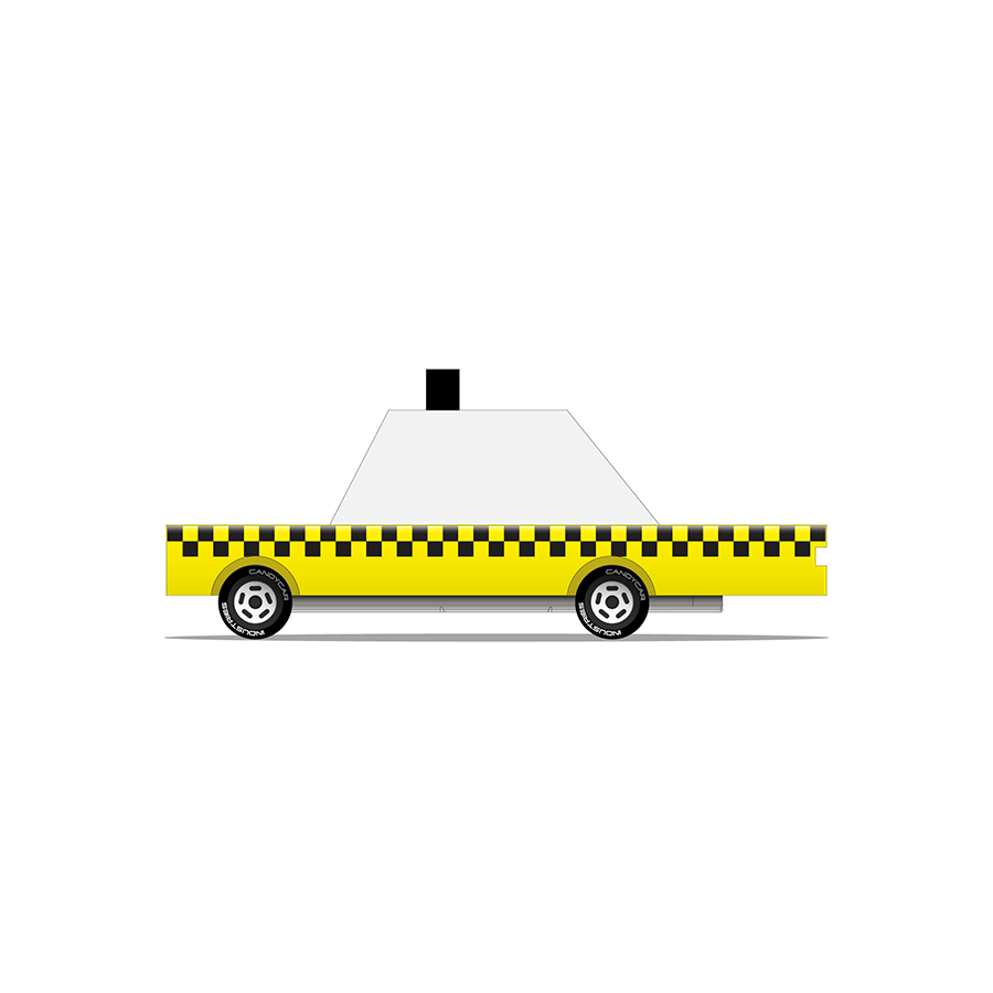 Toy . Wooden Candy Car - Yellow Taxi