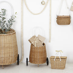 Toy . Pull along basket - Luggy / Natural