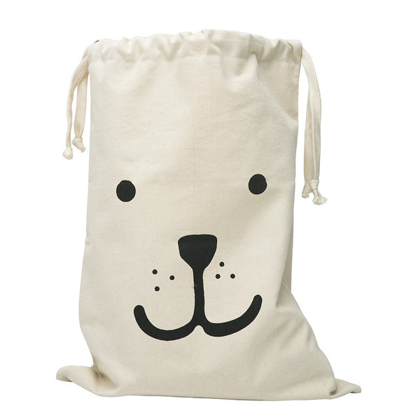 Storage . Cotton Bag - Bear / Large