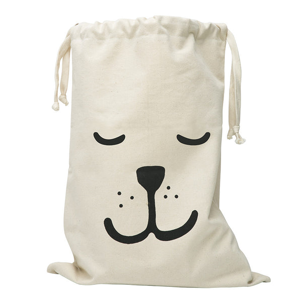 Storage . Cotton Bag - Sleeping Bear / Large