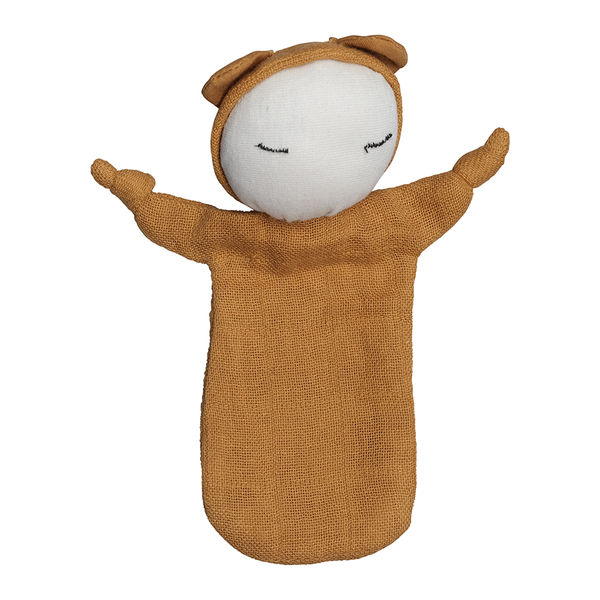 Comforter . Organic Cotton Cuddle Doll - Ochre