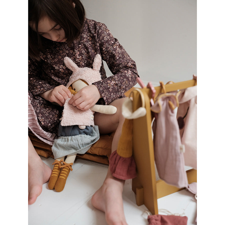 Soft Toy . Organic Cotton  Clothing For Big Dolls -  Fox Cape