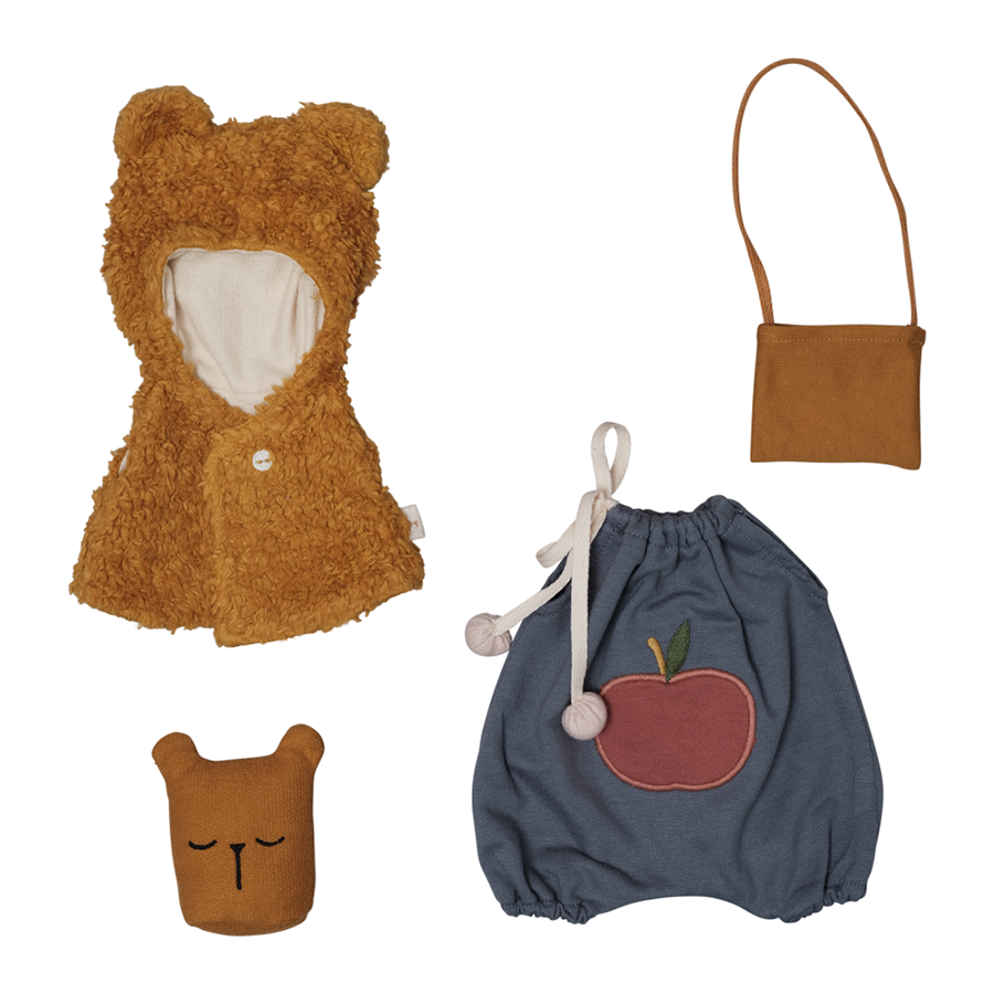 Soft Toy . Organic Cotton  Clothing For Big Dolls -  Bear Cape