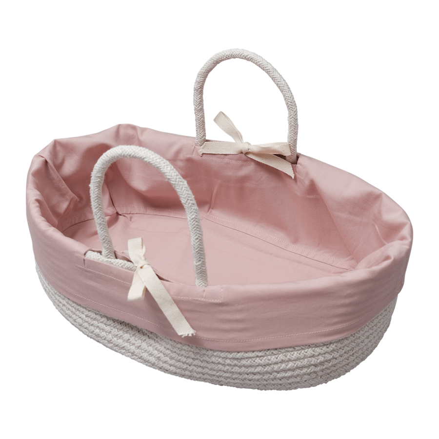 Doll Basket / Bed . Organic Cotton - Mauve Insert