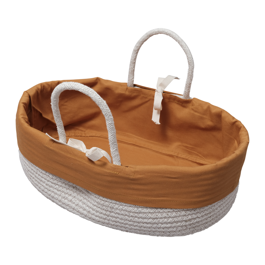 Doll Basket / Bed . Organic Cotton - Ochre Insert