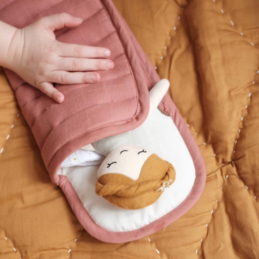 Soft Toy . Organic Cotton Doll Sleeping Bag - Clay