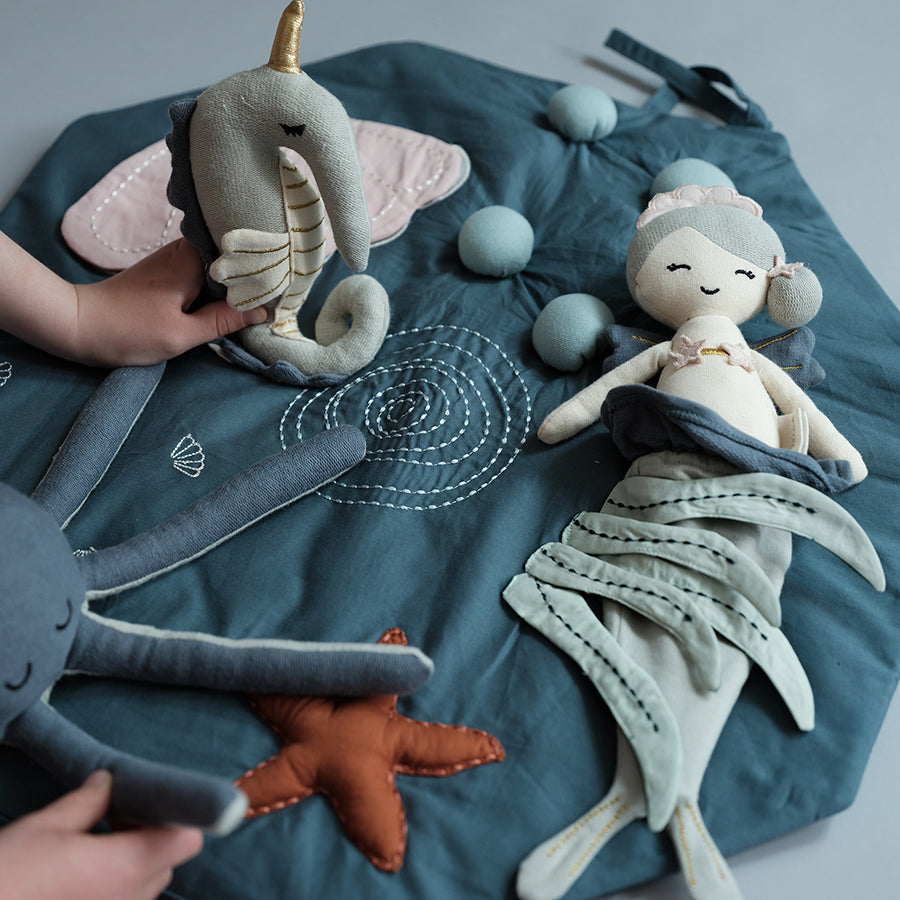 Soft Toy . Organic Cotton Doll -  Mermaid