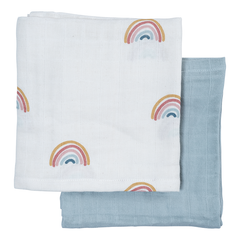 Muslin . Two Pack - Rainbow