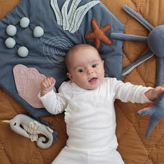 Activity Blanket . Organic Cotton - Underwater