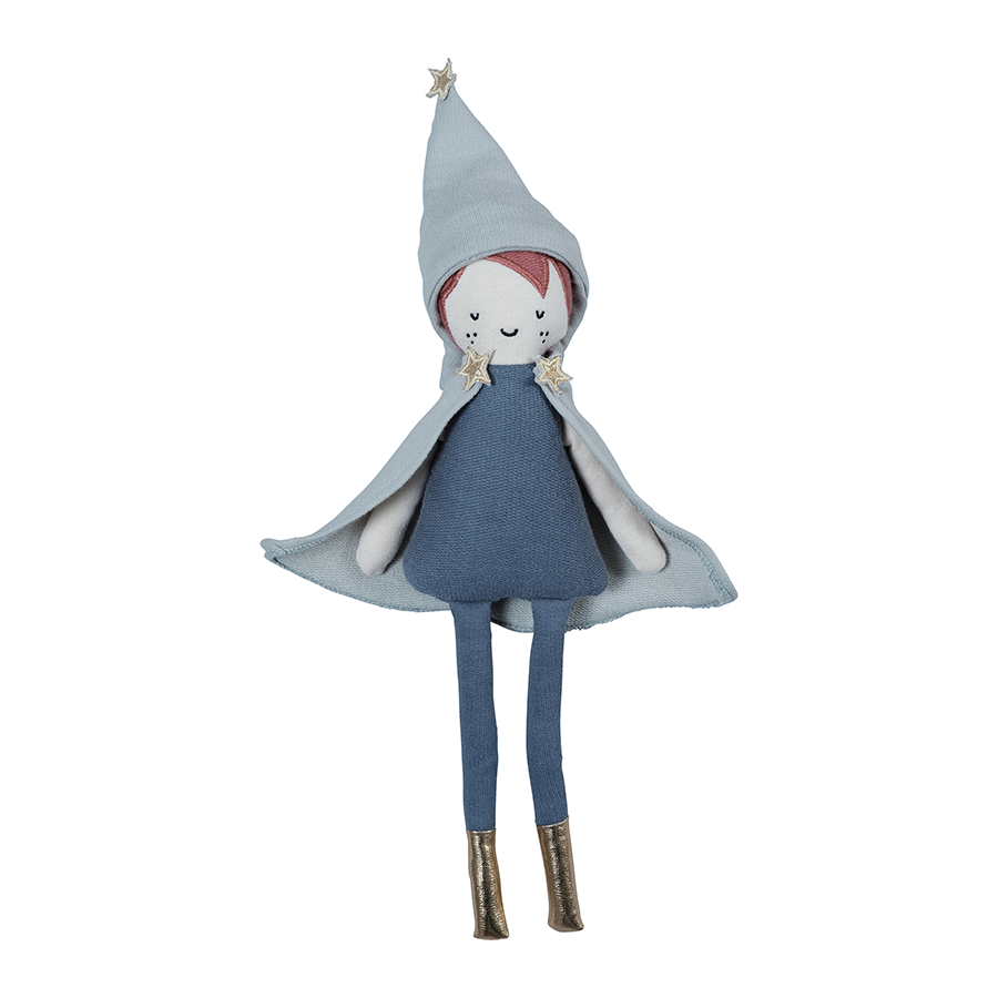 Soft Toy . Organic Cotton Doll -  Little Wizard