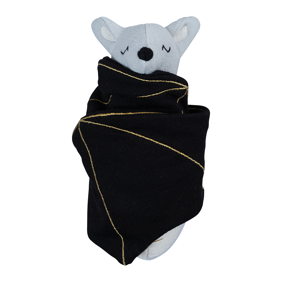 Soft Toy . Organic Cotton Rattle - Bat