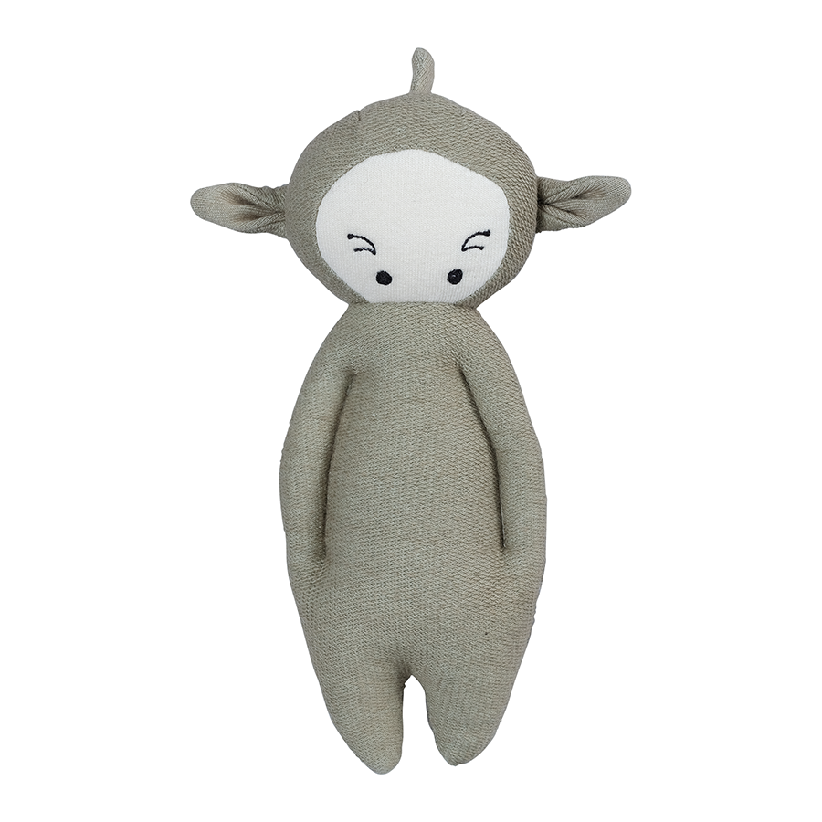 Soft Toy . Organic Cotton Rattle -  Dragon