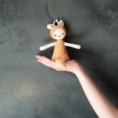 Soft Toy . Dreamy Friend Rattle - Fawn