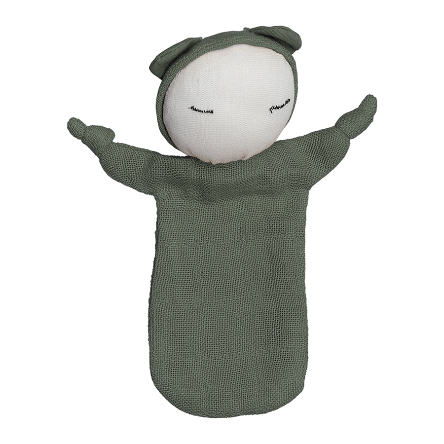 Comforter . Organic Cotton Cuddle Doll - Olive
