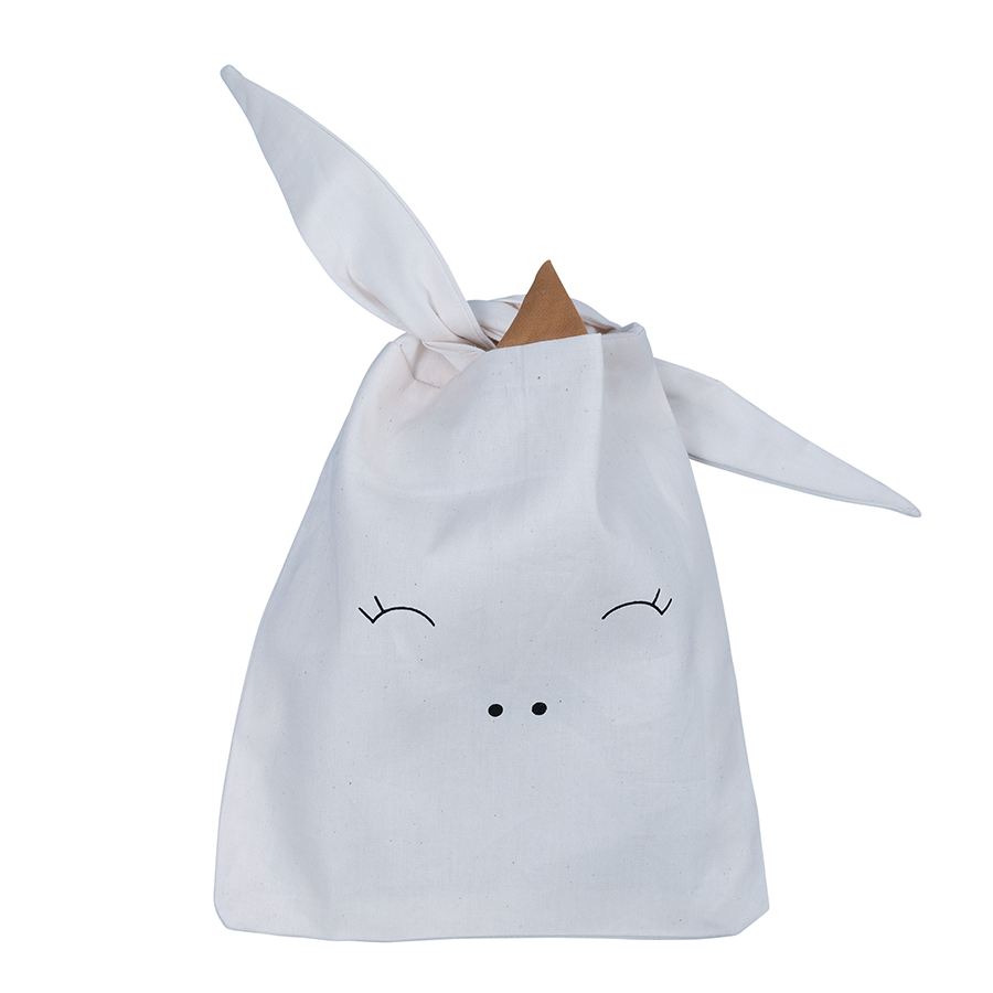 Storage / Sandwich Bag . Organic Cotton - Unicorn