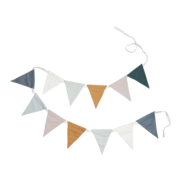 Bunting Garland . Organic Cotton - Coastal