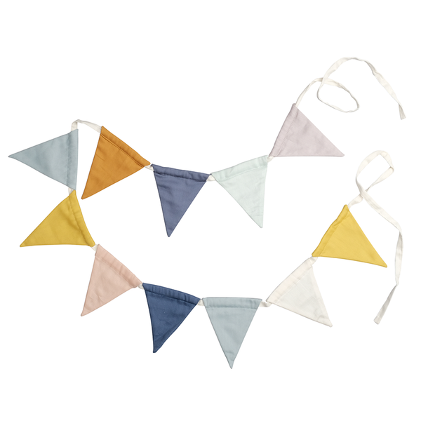 Bunting Garland . Organic Cotton - Rainbow