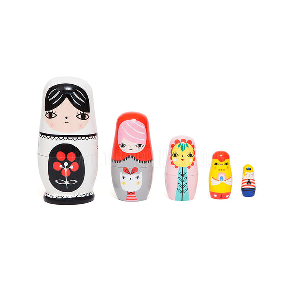 Toy . Nesting Dolls - Fleur & Friends