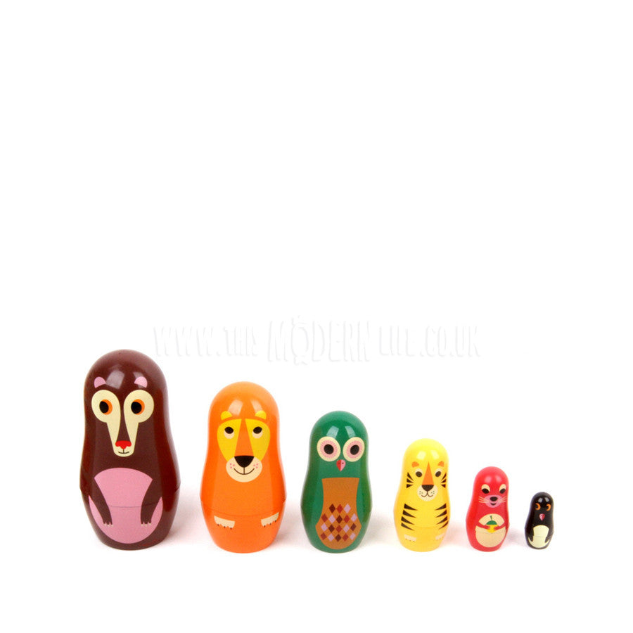 Toy . Nesting Dolls - Animals 1