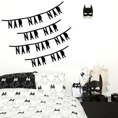 Garland . DIY Letter Banner - Handwriting Style / Black
