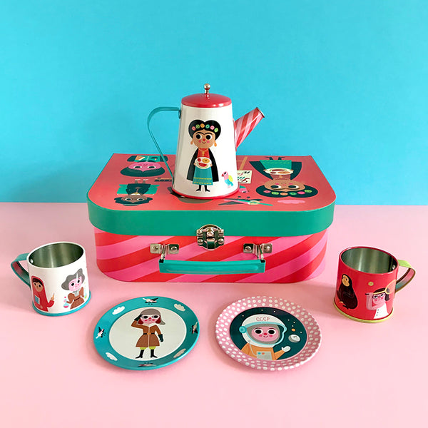 Toy . Tea Set In Suitcase - Feminist