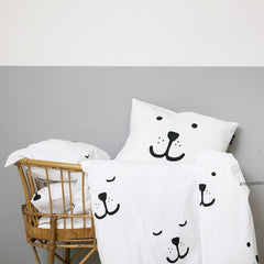 Bedding Set . Bear Face - Toddler / Cot Bed
