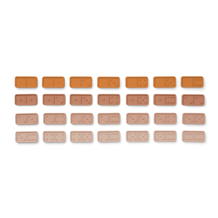Toy . Silicone Dominoes Set - Rose Mix