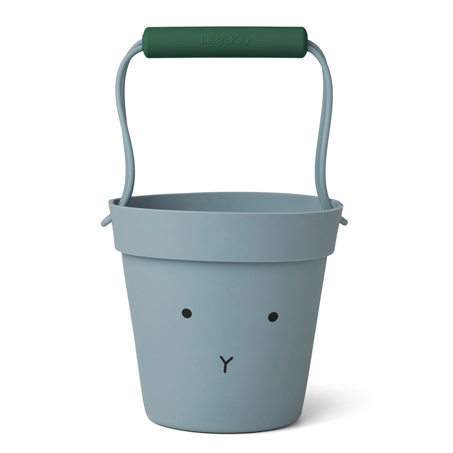 Toy . Silicone Linda Bucket - Rabbit / Sea Blue