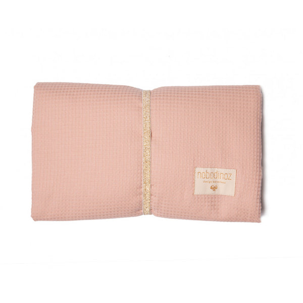 Waterproof Changing Pad . Mozart - Misty Pink