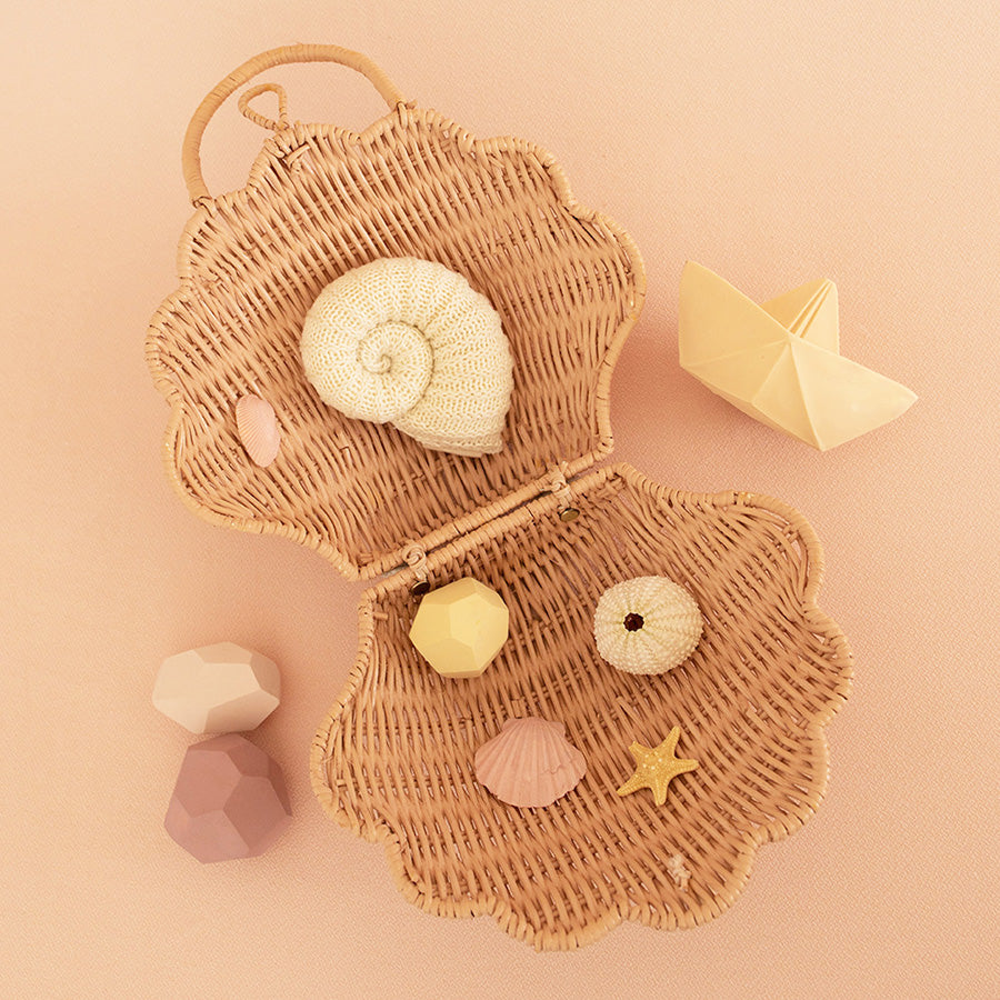 Storage / Play Bag . Shell - Rose