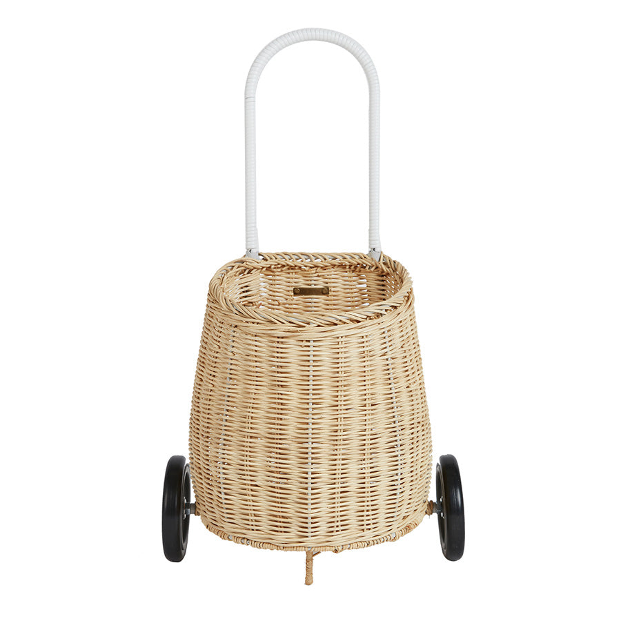Toy . Pull along basket - Luggy / Straw