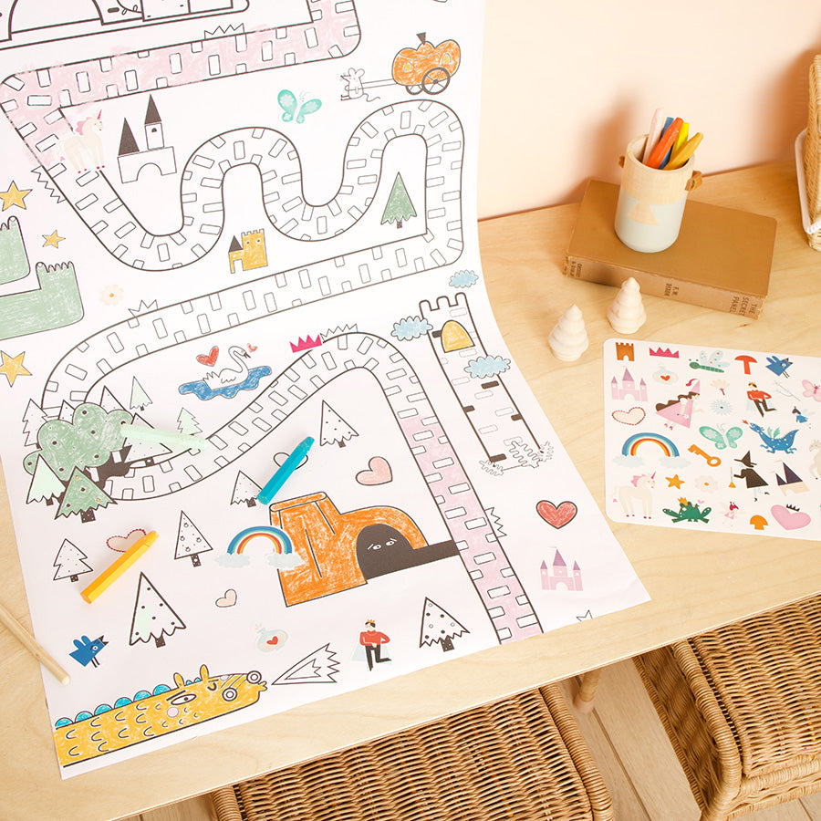 Playpa Stickers . Paper Activity Stickers / Fairy Tale