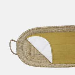 Luxe Organic Cotton Liner . For Bayu / Nyla / Reva Changing Baskets - Mustard