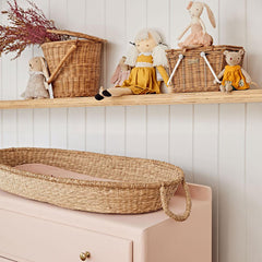 Luxe Organic Cotton Liner . For Bayu / Nyla / Reva Changing Baskets - Rose