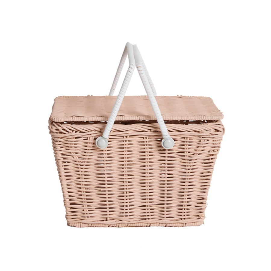Storage . Small Picnic Basket - Piki / Rose Pink