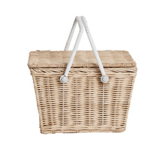Storage . Small Picnic Basket - Piki / Straw